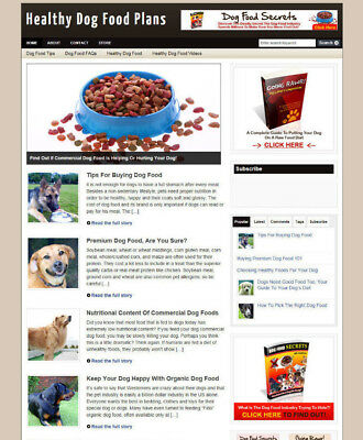 Dog Food Website & Uk Affiliate Store + New Free Domain & Hosting