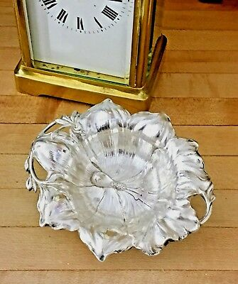 "Reed Barton LES CINQ Sterling Silver ORCHID 3"" Individual Nut Dish Art Nouveau"