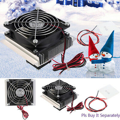 Thermoelectric Peltier Refrigeration Cooling System Kit Cooler Fan DC 12V 6A HE1