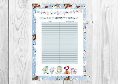 ALICE IN WONDERLAND How big is Mummys Tummy Baby Shower Game Girl