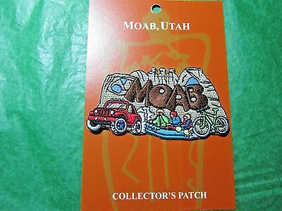 Moab Utah Four-Wheeling, River Rafting, Mountain Biking Embroidered Patch-P20