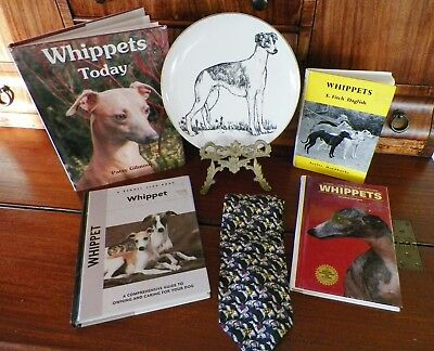 Whippet Lot--4 Reference Books, Necktie, and Plate Free Shipping!