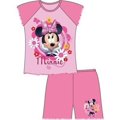 Girls shorties Minnie Mouse short sleeve pyjama set nightwear shorties kids