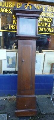Small 18th Century Oak Cottage Style Grandfather Clock Case