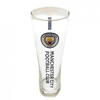 Manchester City / Man City Official Crested Tall Slim Pint Glass Peroni Present