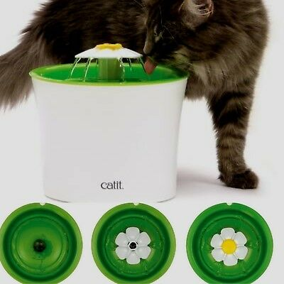 Catit 2.0 Innovative Cat Pet Fun Drinking Flower Fountain Water Softening Filter