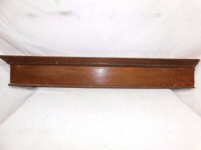Antique Door Trim Egg and Dart Pediment - C. 1905 Oak Architectural Salvage
