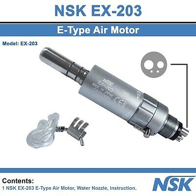 Dental NSK Slow Low Speed Micromotor Air Turbine E-Type Handpiece 4 Holes