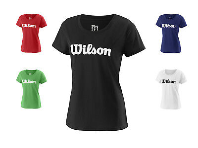 Wilson Damen Team Script Tech Tee mit Aufdruck /  Kollektion 2018