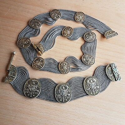 25# Old Rare Antique Islamic Ottoman Turkish Silver Necklace & Bracelet Filigree