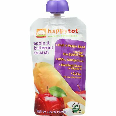 Happy Tot Baby Food - Organic - Apple and Butternut Squash - Stage 4 - 4.22 oz