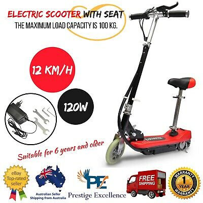 Electric Scooter with Seat Kids Ride On Rechargeable Battery Power Motor Scooter