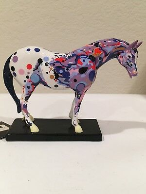"Trail Of Painted Ponies Porcelain #1466 ""Mosaic Appaloosa "" Pony + Box And Tag"