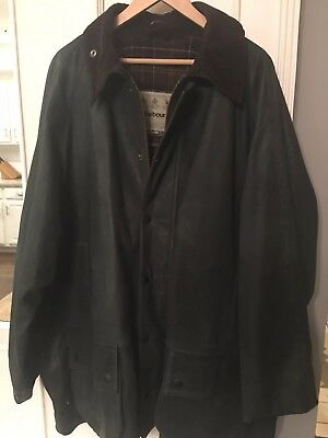 Barbour Green Leather Coat
