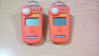 2 x Crowcon GASMAN H2S Single-gas Monitor - One rechargable one battery