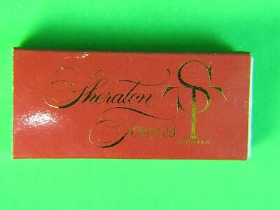 Vintage Matchbox Brussels Sheraton Hotel & Tower no matches matchbook cover rare