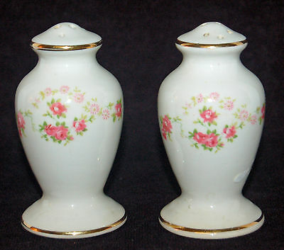W.s. George Lido Pink Roses Salt And Pepper Shakers