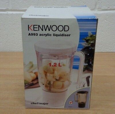 Kenwood A993 Acrylic Liquidiser Attachment 1.2L  for use with Chef / Major
