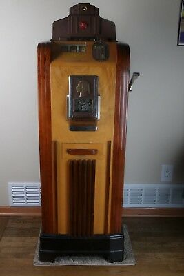 Vintage 1930's antique Jennings Chief Console slot machine Jennings Chief Club