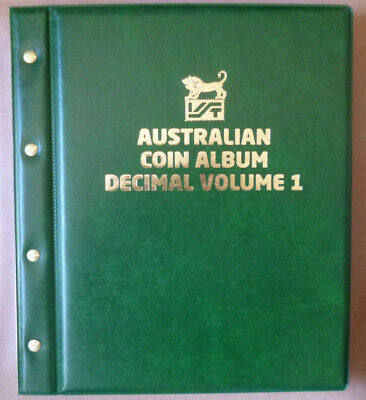 VST Large 50c COIN COLLECTION ALBUM 6 PAGES - holds 180 COINS MINTAGES Printed