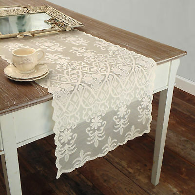 Runner Pizzo Poliestere Shabby chic Poly-Vent Collection Colore Avorio
