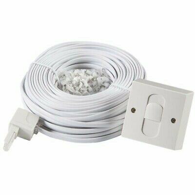 20M BT DIY Telephone Extension Kit with Cable Lead, Clips, Socket, Phone, Sky TV