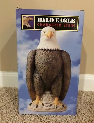 NIB 1997 Anheuser-Busch Bald Eagle Character Stein Premier Collection Budweiser