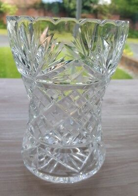 "Cut Glass Vase 6.25"" X 4.5"""