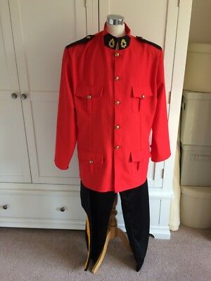 Mens Ex Hire Quality Canadian Traditional Policeman Mountie Fancy Dress Costume