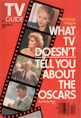 1989 TV Guide- March 25-31- What TV Doesn't Tell You About The Oscars