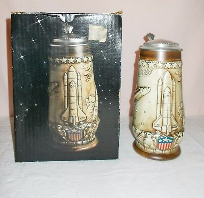 Space Shuttle NASA Stein American Heritage by Ceramarte by A.Klubert 1981