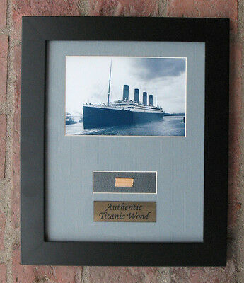 Authentic Titanic Wreck Wood Framed Artifact - White Star Line