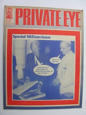 PRIVATE EYE 6 April 1973 No 295 Pope Paul VI & Ted Heath VATican Issue