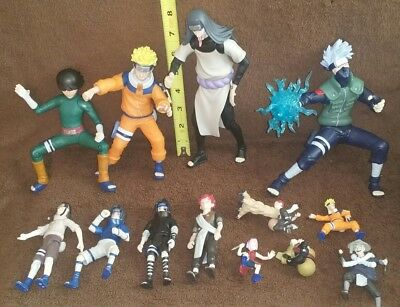 Naruto Action Figures Huge Lot of 13  Masashi Kishimoto Anime 2002 Nice Set