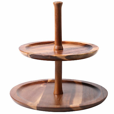 NEW 2 Tier Acacia Wood Serving Tray - Gourmet Kitchen,Kitchen & Butler Trays