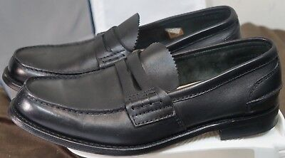 $545 Church's Pembrey Custom Grade Black Penny Loafers Made in England US 9.5 W