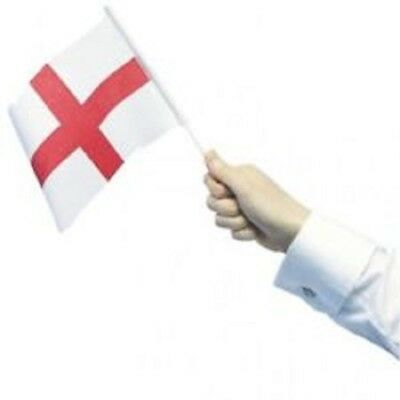 Pack Of 6/12/18/25Hand Waving England / St Georges Flags - 32 cm Width