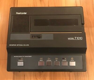 OLYMPUS Pearlcorder T1010 Microcassette Dictation Transcriber - Untested