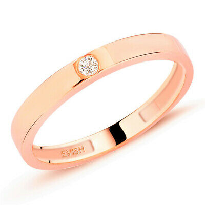 Evish Solitär Brillantring Russisches Gold 417 Diamant 0,05 ct. Rotgold Rosegold