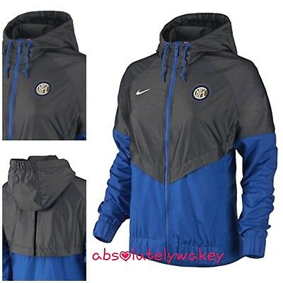 Nike Women's 2017-2018 Inter Milan  Authentic Windrunner Jacket Blue Medium