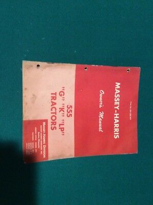 Massey Harris 555 Tractor Manual