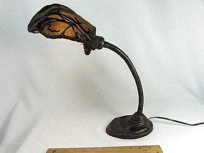 Table Desk Lamp Antique Art Deco Cast Metal 1920s Shade Custom Judi's Lampshades