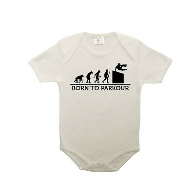 Body bébé 100% coton évolution born to parkour