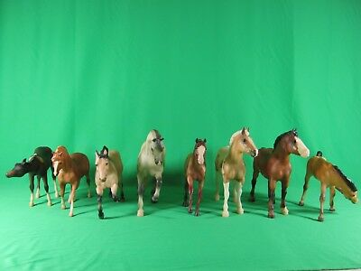 lot of 8 Breyer assorted Model Horses & Ponies HOT SHOT, CLYDESDALE, SAHARA ...