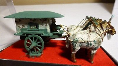 19C CHINESE CAST IRON CHINESE EMPEROR'S CARRIAGE MODEL Reproduction nice Patina