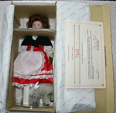 "Danbury Mint The Story Book Doll Collection ""Heidi"" 11"" Doll w/COA"