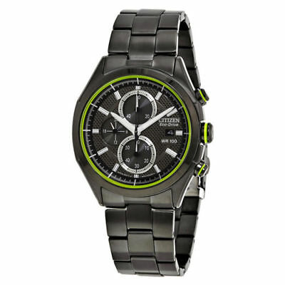 Citizen Eco-Drive CA0435-51E Men's HTM 2.0 Black Ion Stainless Steel Date Watch