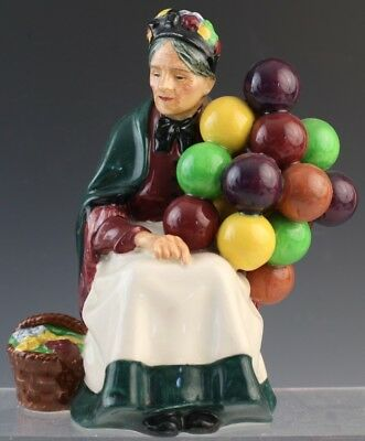 Vintage Royal Doulton The Old Balloon Seller English Porcelain Figurine HN 1315