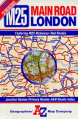 Main Road Map of London by Geographers' A-Z Map Company | Book | second hand