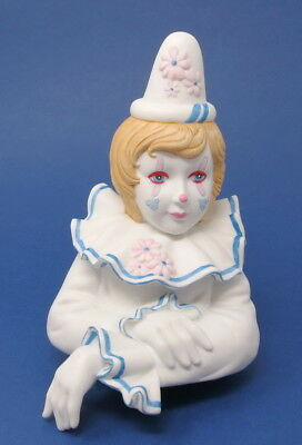 Vintage Tom Rubel Clown Ceramic Figurine Limited Edition Enchanted Clowns Pinkie